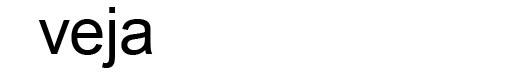 Arial Regular font logo revista Veja