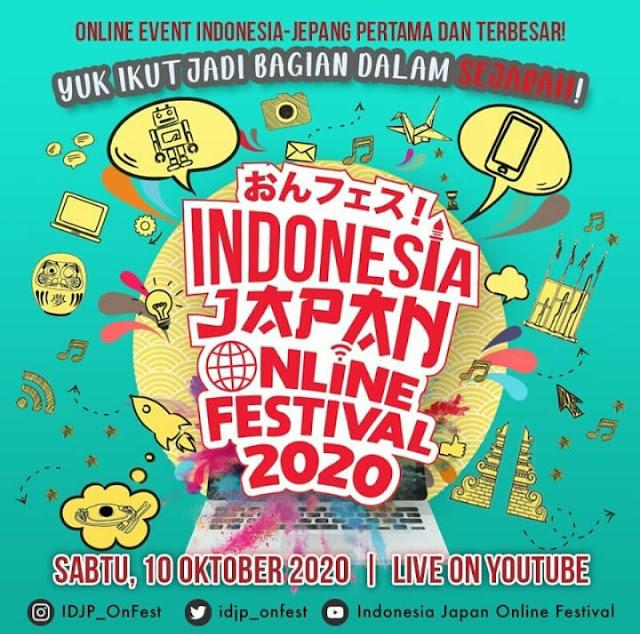 Yuk Ikuti Event Indonesia Japan Online Festival 2020