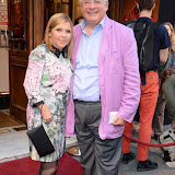 WWW.ENTSIMAGES.COM -  Louise Clifford and Christopher Biggins   arriving at          FORBIDDEN BROADWAY - Press Night at Vaudeville Theatre London September 15th 2014Phillip George directs return of Gerard Akessandrini's comedy revue which, when it was first performed in New York, poked fun at a range of Broadway stars including Whoopi Goldberg and Elaine Paige.                                             Photo Mobis Photos/OIC 0203 174 1069
