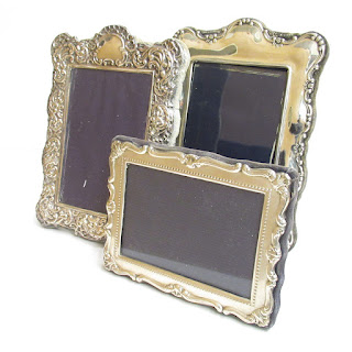 Sterling Silver Repousse Frame Trio