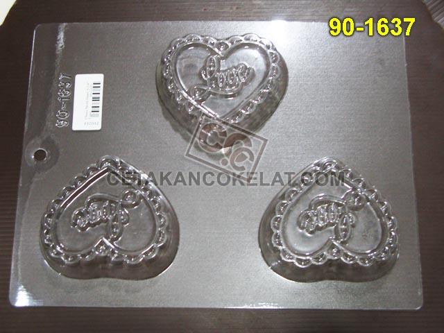 Cetakan Coklat 90-1637 cokelat love