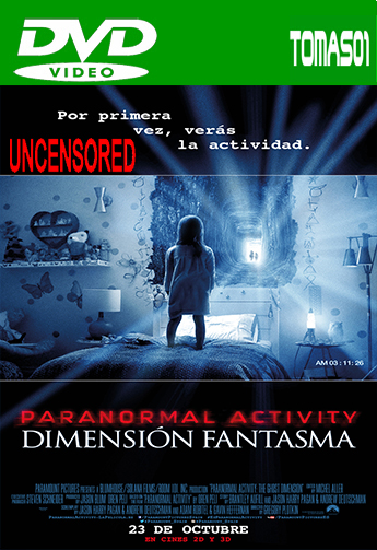 Paranormal Activity 5: Dimensión Fantasma (Sin Censura) (2015) DVDRip