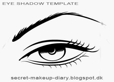 Secret Makeup Diary Eye Shadow Styles Template Free Download - Eyeshadow template