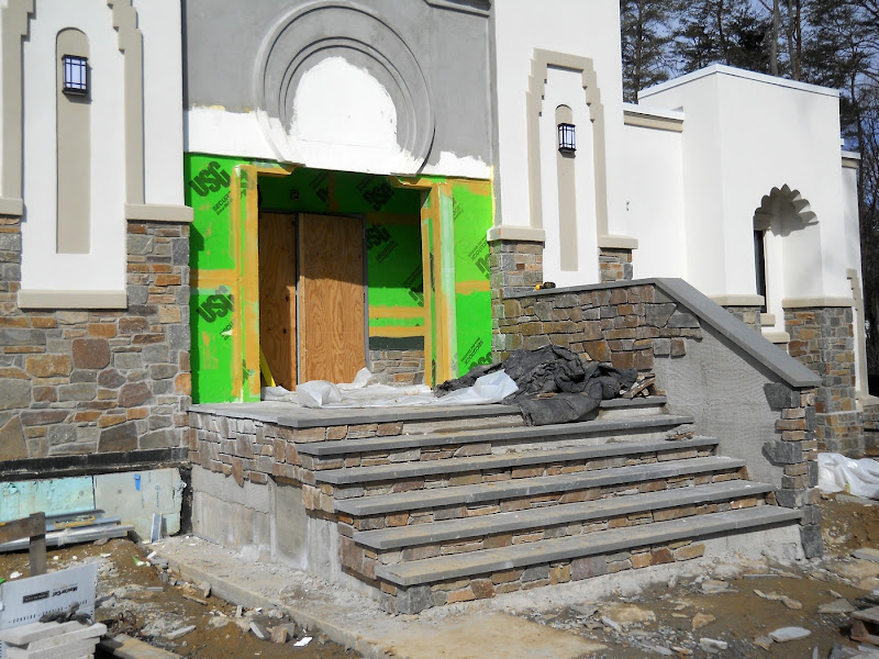 Front steps in progress