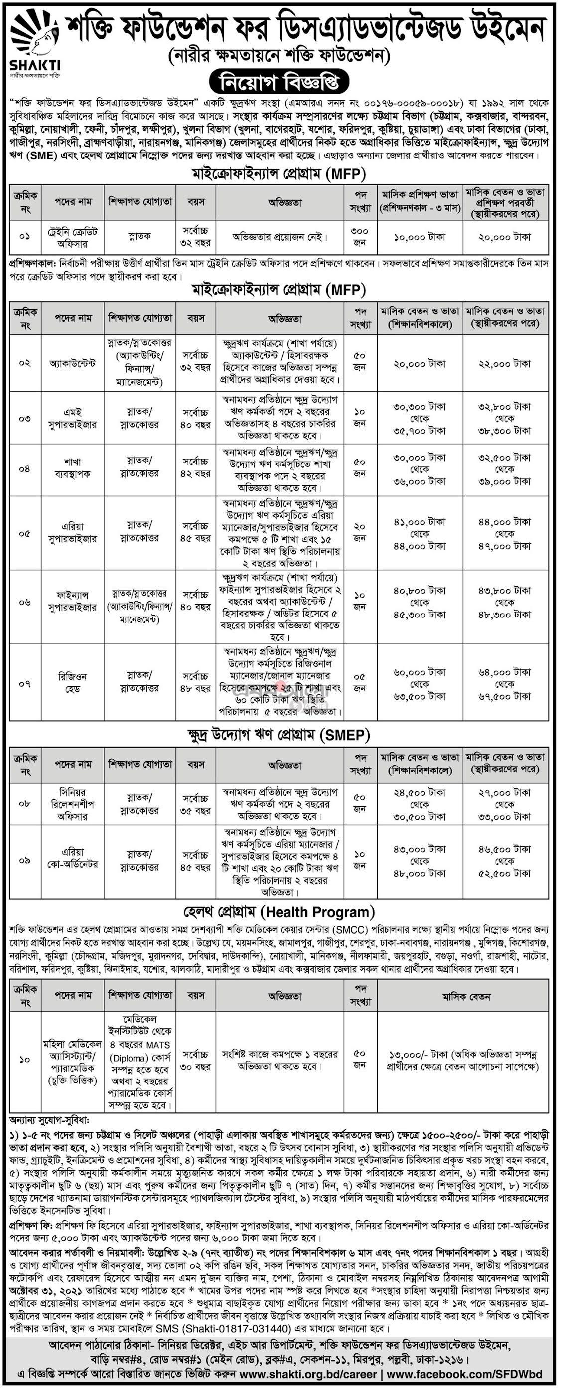শক্তি ফাউন্ডেশন এনজিও জবস সার্কুলার - Shakti Foundation NGO Jobs Circular - NGO Job  Vacancy/Opportunity/anaunsmant