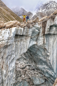 A Craves at Panmah Glacier