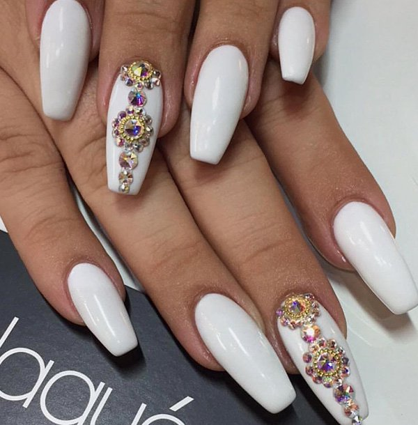 Rhinestone Nail Art Designs Ideas 2017