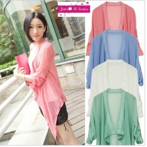 ally blossom: New chiffon long cardigan! :)