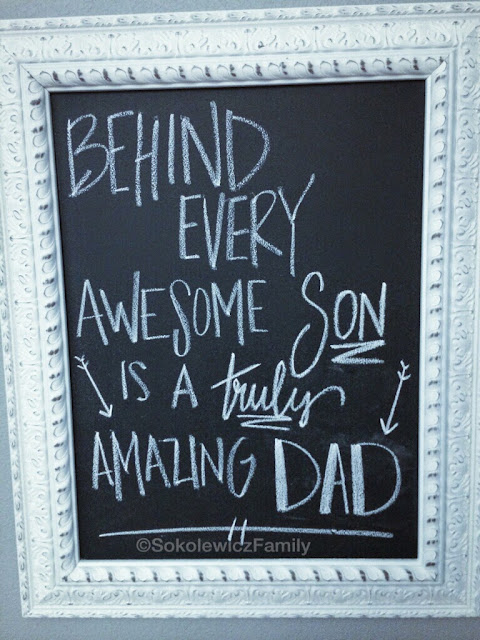 Father's Day chalkboard