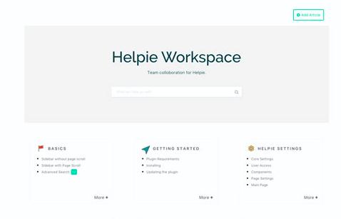 Helpie WP frontend posting wordpress plugin website homepage