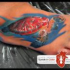 foot tattoo - Turtle Tattoos