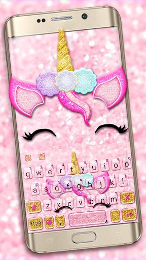 Glisten Unicorn Pinky Keyboard Theme ss1