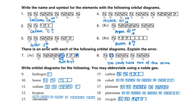 Orbital Diagrams Cassi Chemistry 3rd