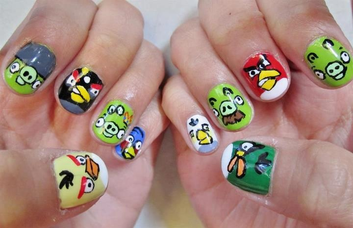 12 Interesting Angry Bird Nail Designs 2015 | Fashionte