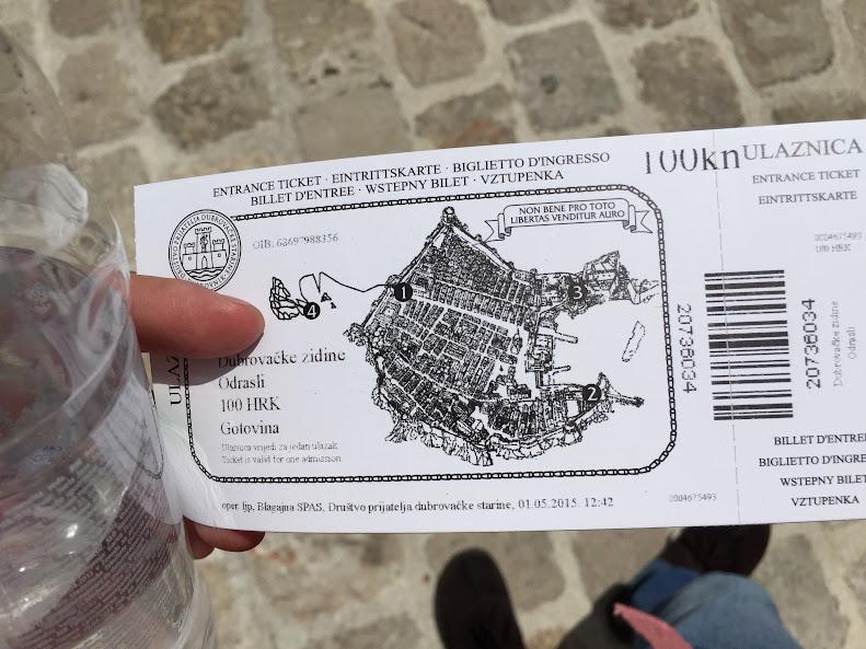 ドゥブロヴニク旧市街 城壁チケット