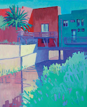 Photo: Downtown Creek, Martinez, acrylic by Nancy Roberts, copyright 2014. Private collection.