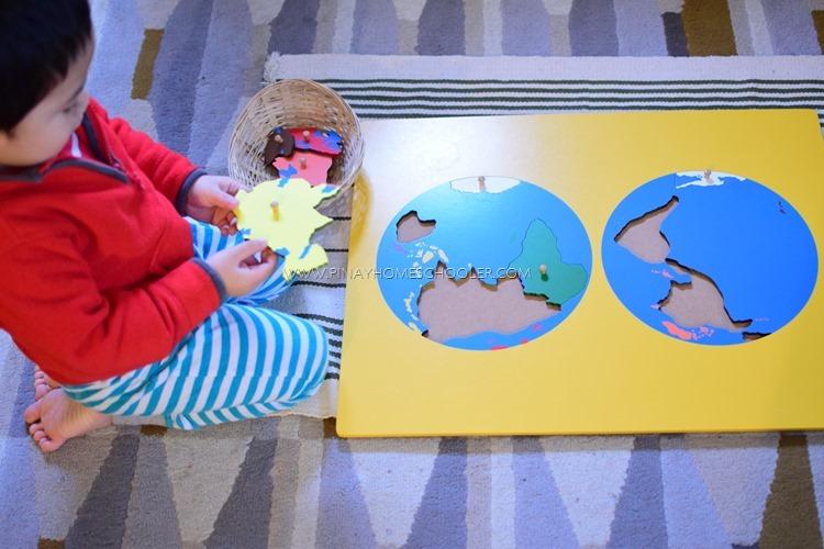 Continent Puzzle Board