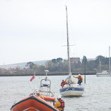 The ILB tows the yacht off the sandbank - 21 April 2013.  Photo credit: Dave Riley