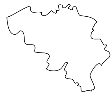 Blog de Geografia: Blank Map of Belgium, Outline Map of