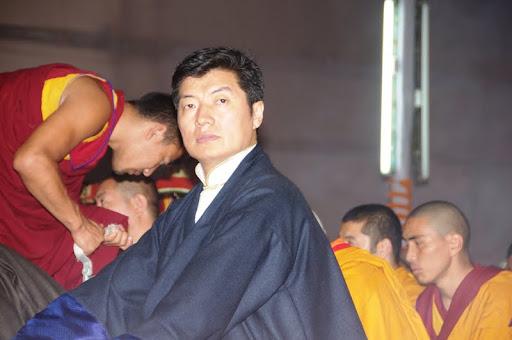 Losang Sangay, Prime Minister (Kalon Tripa) of the the Central Tibetan Administration, Kalachakra initiation 2012, Bodhgaya, India, January 2012. Photo by Bill Kane.