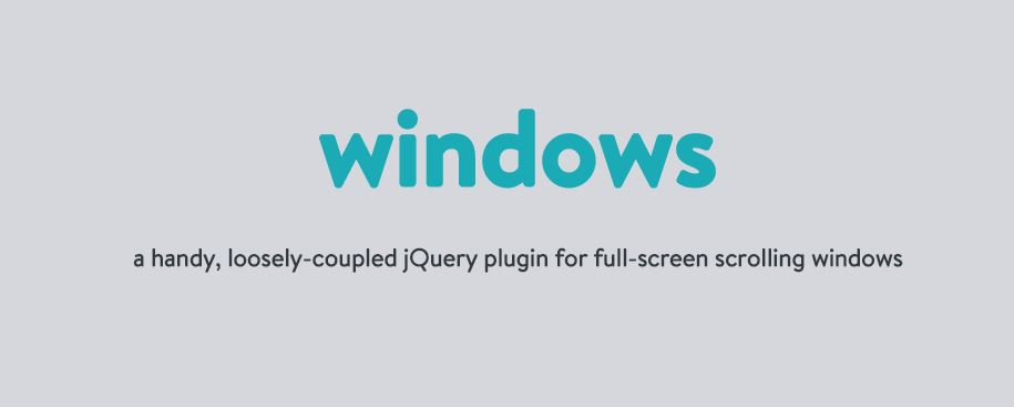 Windows jquery plugin