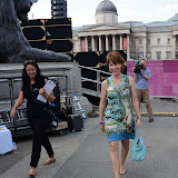 WWW.ENTSIMAGES.COM - Kathy Lett  at Get Reading festival at Trafalgar Square, London Organised by the Evening Standard in partnership with e-reader firm NOOK July 13th 2013                                             Photo Mobis Photos/OIC 0203 174 1069