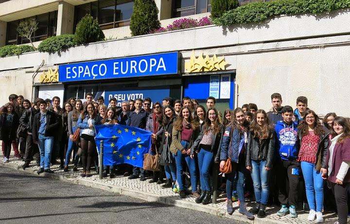 """""""Espaço Europa"""" em Lisboa recebe visita de alunos de Lamego"""