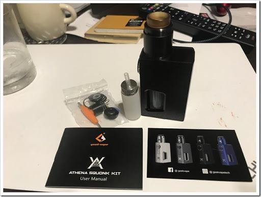 IMG 6161 thumb - 【コンパクトで可愛いやつ】Geekvape Athena Squonk Kit with BF RDA-Black(ギークベープアテナスコンクキット)レビュー!小型化されたメカニカルスコンカー!いつでも供給!漏れなしのトップエアフロー!