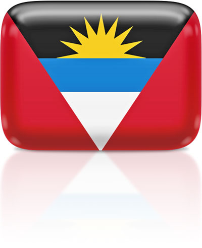 Antiguan flag clipart rectangular