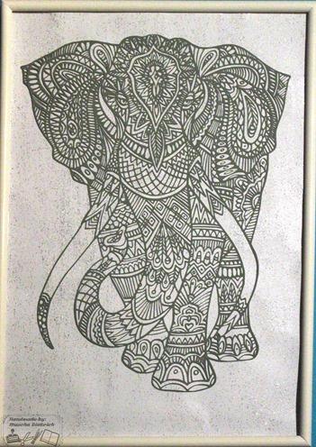 Schilderij Olifant 1