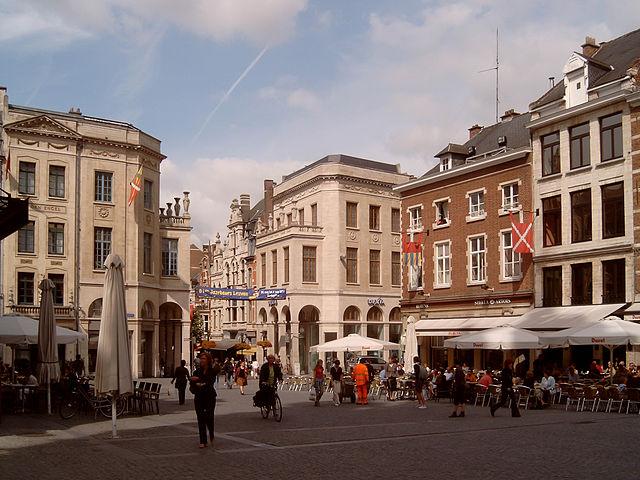 Oude Markt - Bustling Center of Leuven, Belgium