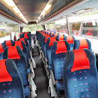 Het interieur van de Vanhool van Beuk bus 266