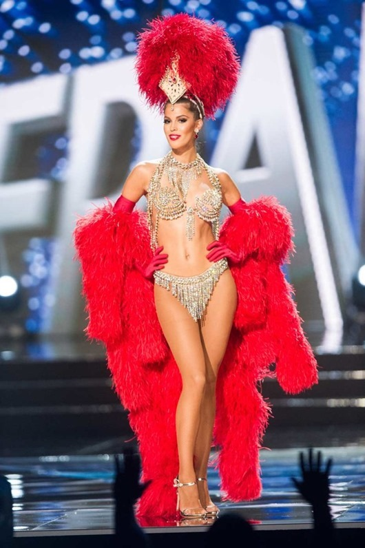 Iris Mittenaere, Miss France 2016 debuts her National Costume on stage at the Mall of Asia Arena on Thursday, January 26, 2017.  The contestants have been touring, filming, rehearsing and preparing to compete for the Miss Universe crown in the Philippines.  Tune in to the FOX telecast at 7:00 PM ET live/PT tape-delayed on Sunday, January 29, live from the Philippines to see who will become Miss Universe. HO/The Miss Universe Organization