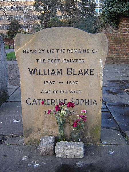 William Blake Memorial In Bunhill Fields, William Blake
