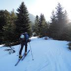 Laurent ski aux pieds