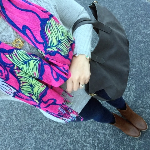 how to wear lilly in winter, preppy style, mom style