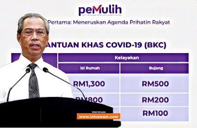 PEMULIH: Bantuan Kewangan Khas COVID19 RM500 (BKC)