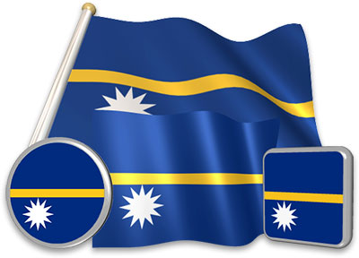Nauruan flag animated gif collection