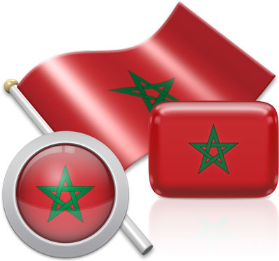 Moroccan flag icons pictures collection