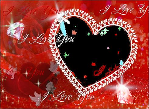 浪漫的心脏相框