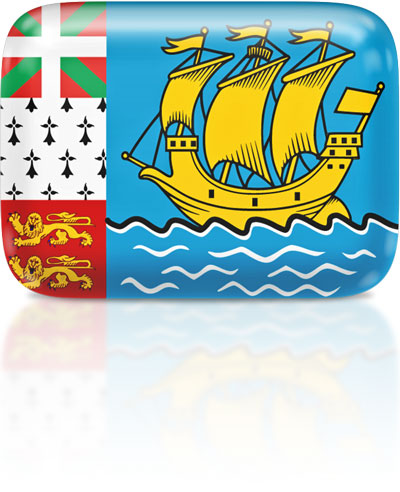 Saint-Pierrais or Miquelonnais flag clipart rectangular