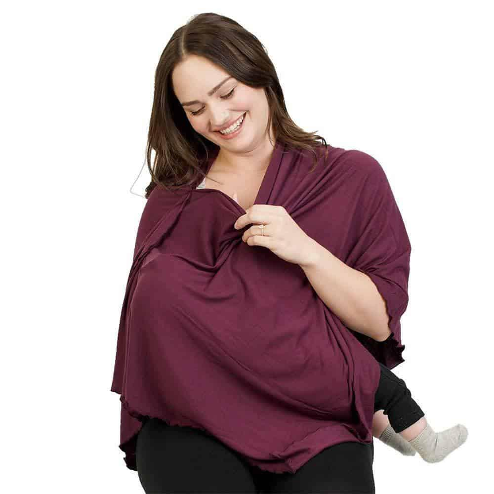 Bamboobies Maternity Chic Nursing Shawl and Carseat Cover Daily mom parent portal Gifts for People who are Hard to Buy for
