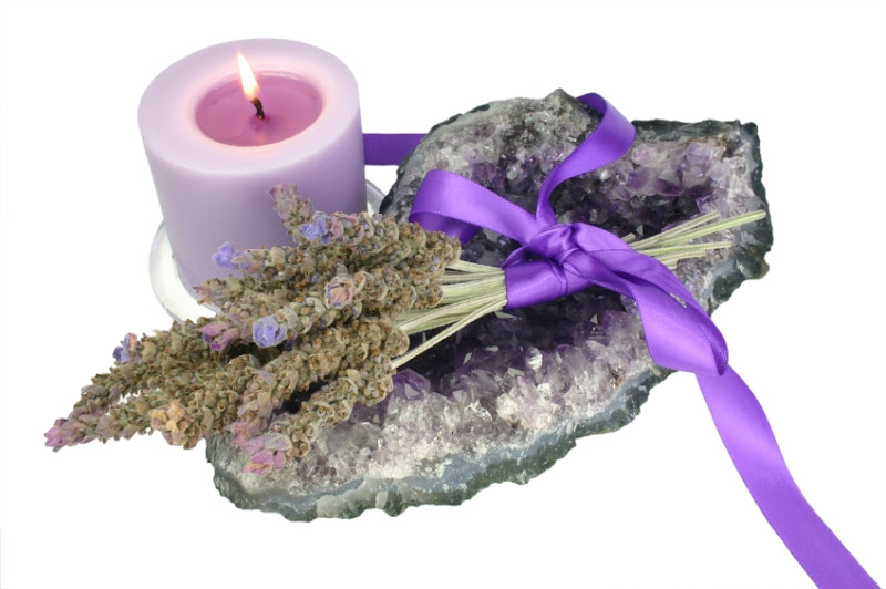 Candle Lavender And Amethyst, Candle Magic