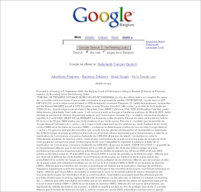Google Belgien 2006