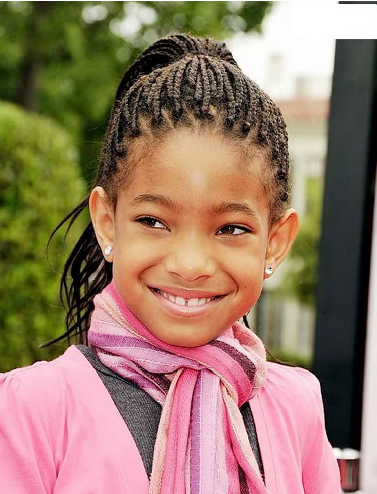 black little girls 2018-2019 pay attention to the kids style