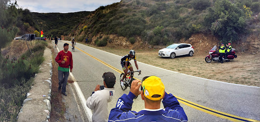 Tour of California - Stage 7. Watching how the pros do it.