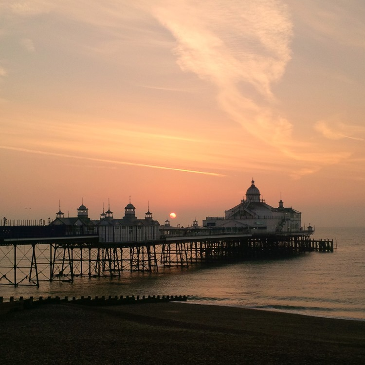 sunrise over the pier