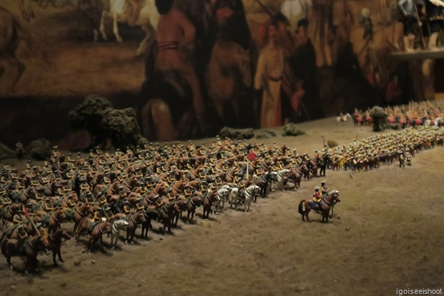 Miniature armies showing warfare in the 16th century