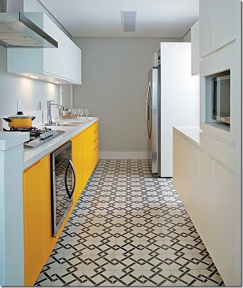cozinha branco amarelo