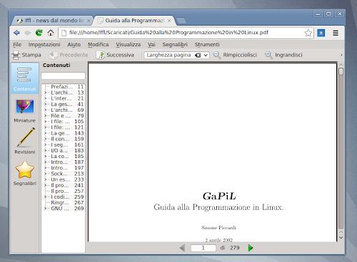 Okular come lettore di PDF in Chromium